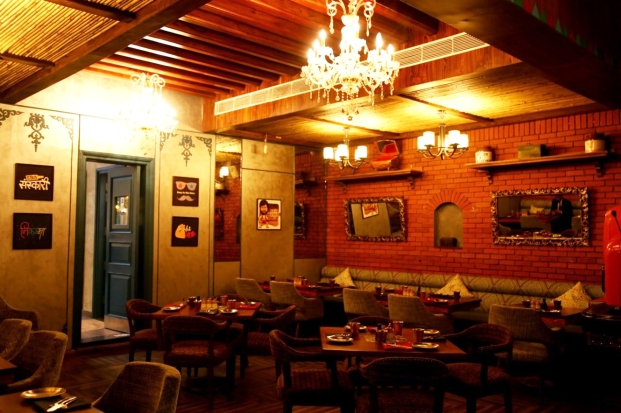 Interiors of Dhaba